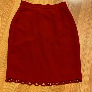 Red skirt with loops on hem size 4P